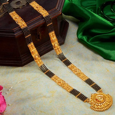 Heavy 70 Gram Gold only Mangalsutra Pattern