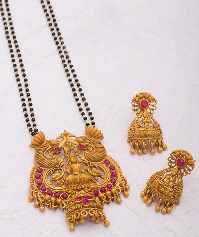 Heavy Double Chain Mangalsutra Design