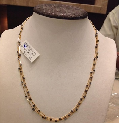 Intertwined Triple Chain Mangalsutra Design