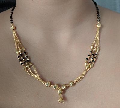 Modern 22 carat Gold Mangalsutra Pattern