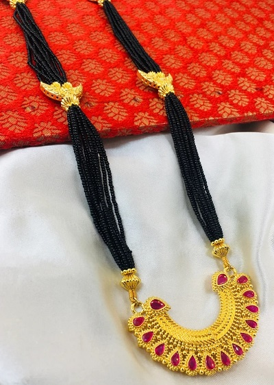 Simple Yet Heavy Bridal Mangalsutra Pattern