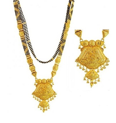 Stylish Mangalsutra With Heavy Chain For Bridal wear