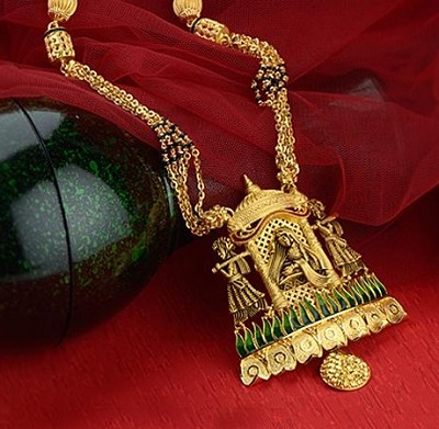 Temple Jewellery Inspired Heavy Mangalsutra Design