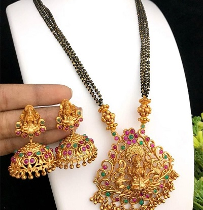 Temple jewellery Inspired Heavy Mangalsutra
