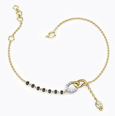 Delicate latest style of mangalsutra for hands