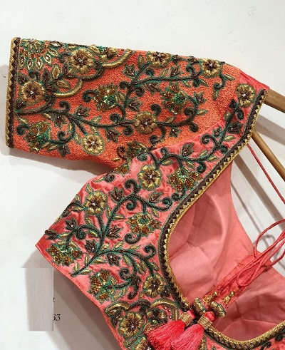 Designer blouse with maggam style embroidery