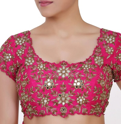 Embroidered and Zari Work Blouse Pattern