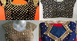 Mirror Work Saree Blouse Design