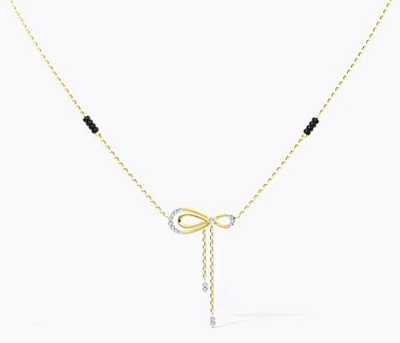 Delicate bow shaped Mangalsutra pattern