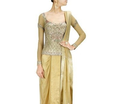 Long Blouse Design With Embroidery