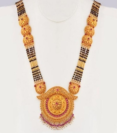 Thick Side beaded chain with heavy pendent mangalsutra