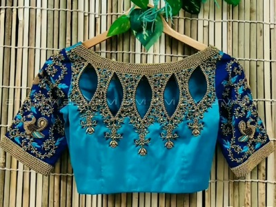 Cut Work Style Saree Blouse Pattern