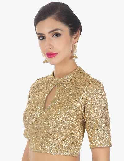 Golden Blouse For Parties