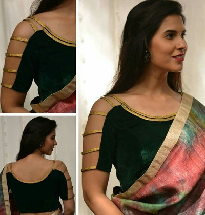 Strappy Blouse Sleeves Design