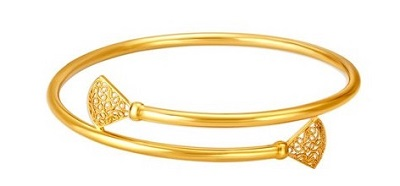 Bracelet style Bangle In Gold Metal