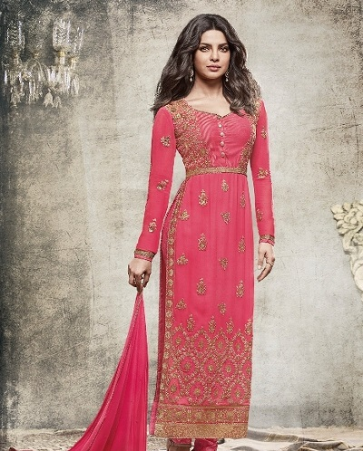 Georgette Churidar Long Suit Dress