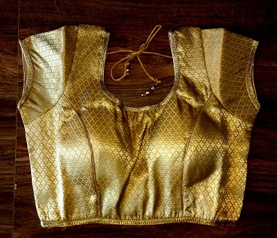 Golden Saree Blouse Pattern