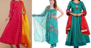 Latest Bhandej Salwar Suit Designs