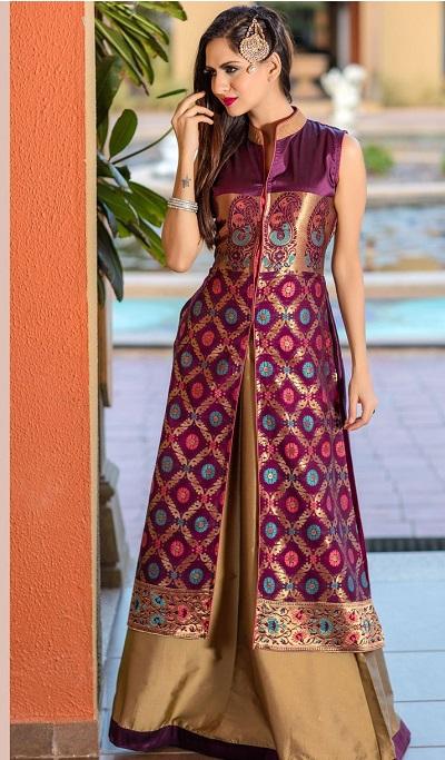Long kurti Design with front Cut