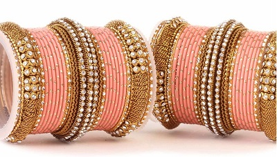 Party Wear Gold Bangles Design
