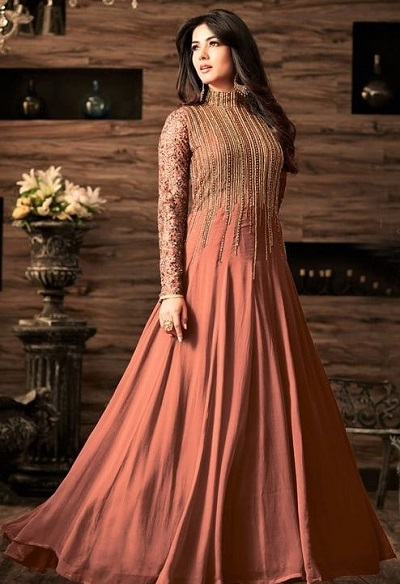 Party wear Long Length Churidar Attire