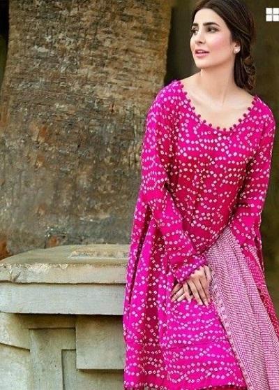 Stylish Dress with Tie and Dye Print