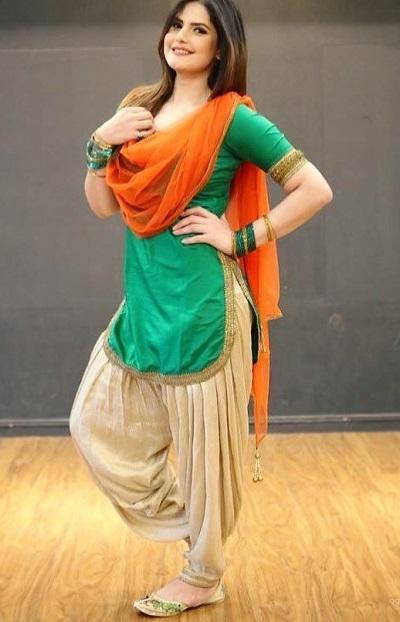 Short Punjabi Rounded Hemline Kurti With Full Flair Patiyala Salwar