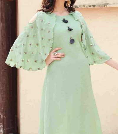 Butterfly flared suit sleeves pattern
