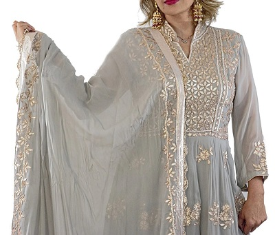 Cotton Gota Patti Anarkali suit