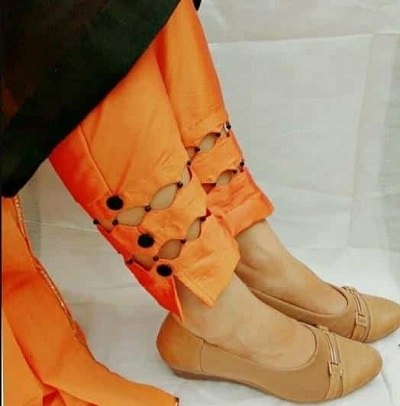 Cut Work Pant Style For Kurti