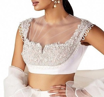 Designer Blouse With Lace Fabric