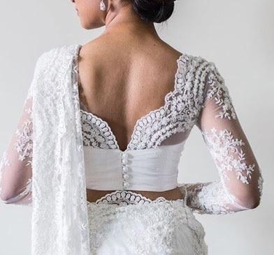 Gorgeous White Lace Work Blouse Design