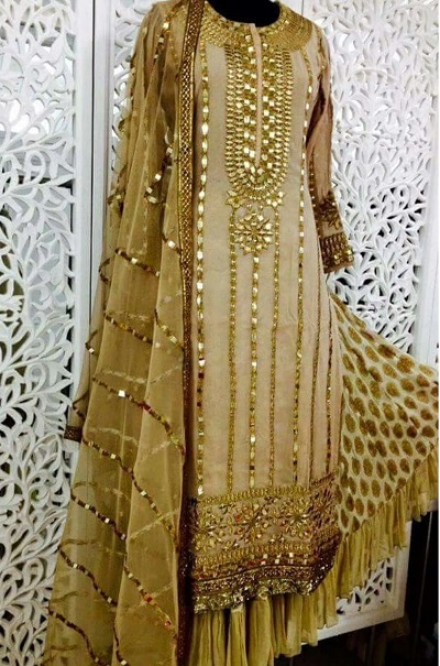 Party wear and bridal Gota work suit