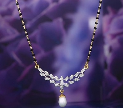 Pearl Work Mangalsutra For Brides