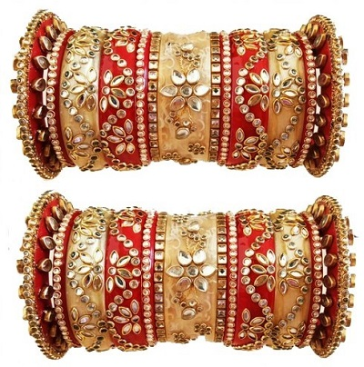 Red and Gold Classy Wedding Chura