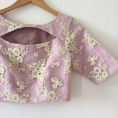 Simple Blouse With Boat Shaped Neckline