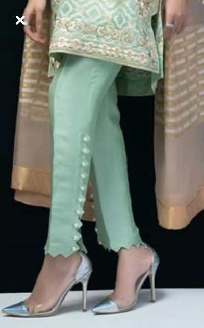 Zigzag Pant design for kurti