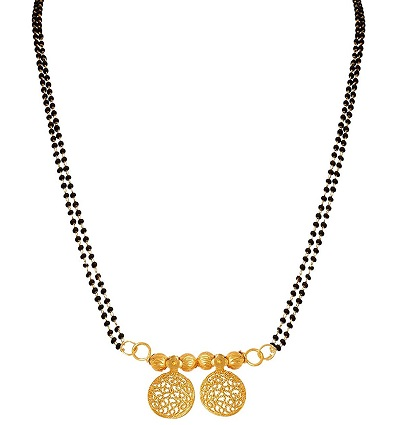 10 Gram Double Chain Gold Mangalsutra Pattern