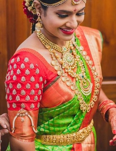 Elegant Silk Saree Blouse For Weddings