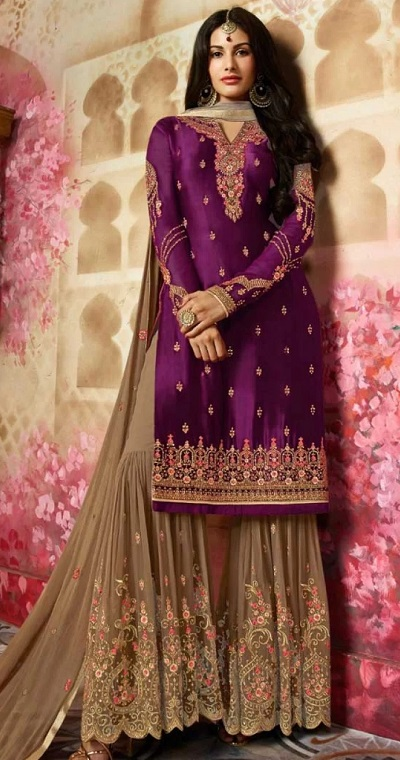 Punjabi Sharara Suit For Parties And Festivals