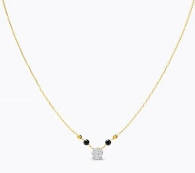 Simple Solitaire Style Light Mangalsutra Pattern