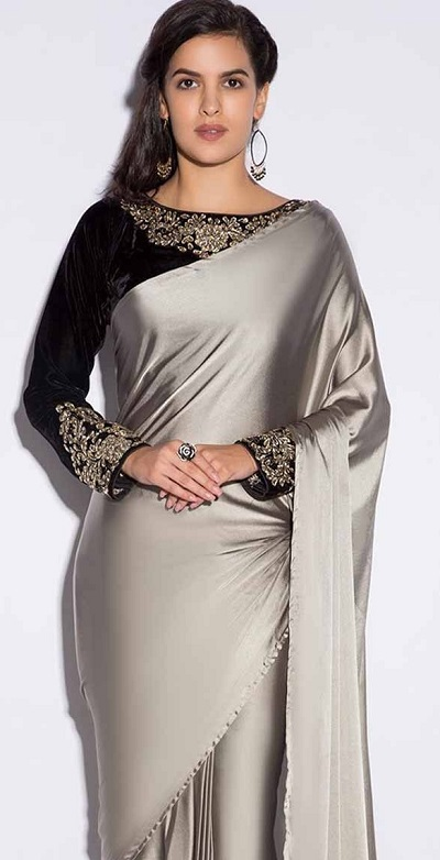 Full sleeves party wear embroidered blouse design