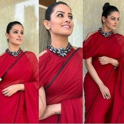 Designer V neck saree blouse pattern