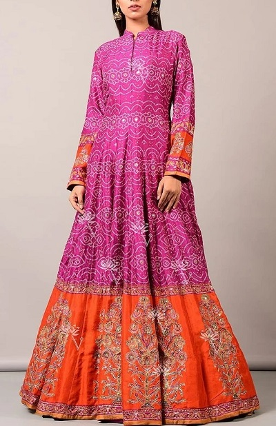 Layered Long Kurti For Festivals And Parties