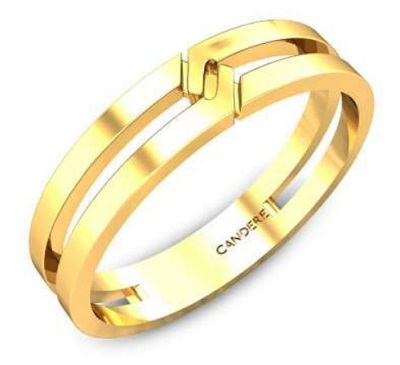 Double Band Pattern Gold Ring Design For Men