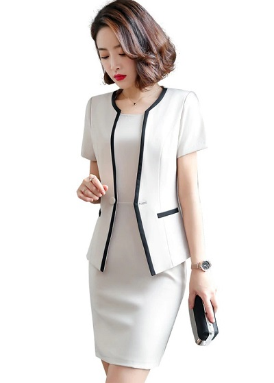 Double layered breasted sheath dress