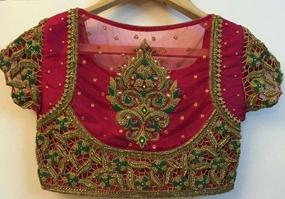 Exclusive Wedding Wear Blouse With Zari And Stone Work