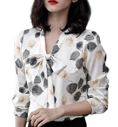 Full sleeves floral pattern women shirt