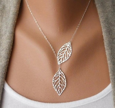 Leaf necklace for office wear for women