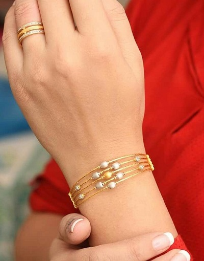 Multi layered thick bracelet bangle for office